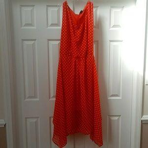 3X Red w/ white polka dots dress, rockabilly, 50s